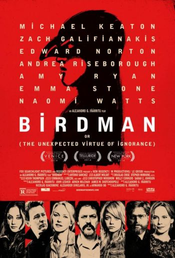 """Promotional Poster for the film """"Birdman."""" Photo Credit: Fox Searchlight Pictures"""